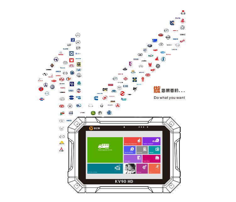 KV90 HD 重型车智能诊断平台